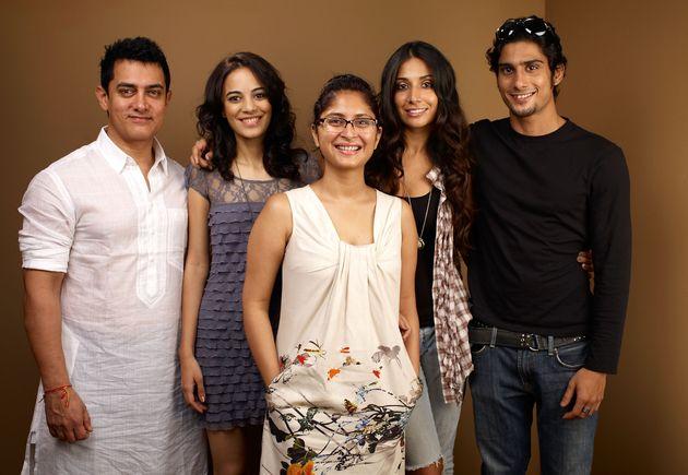 Actor Aamir Khan, actress Kriti Malhotra, director Kiran Rao, actress Monica Dogra and actor Prateik...