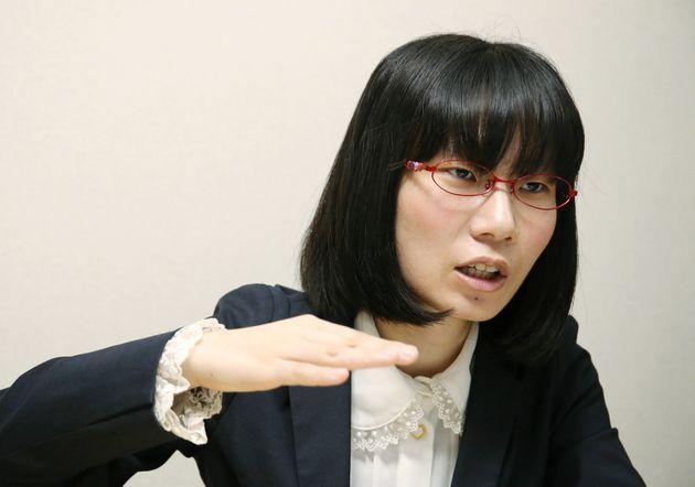 笑下村塾取締役のたかまつななさん=7月2日、東京都新宿区