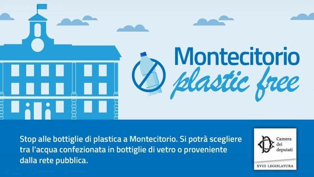 """La Camera diventa plastic free. Fico: """"Montecitorio imp"""