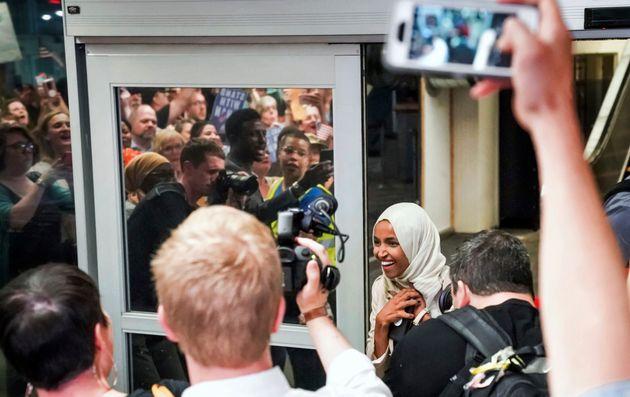 Ilhan Omar, a su llegada al