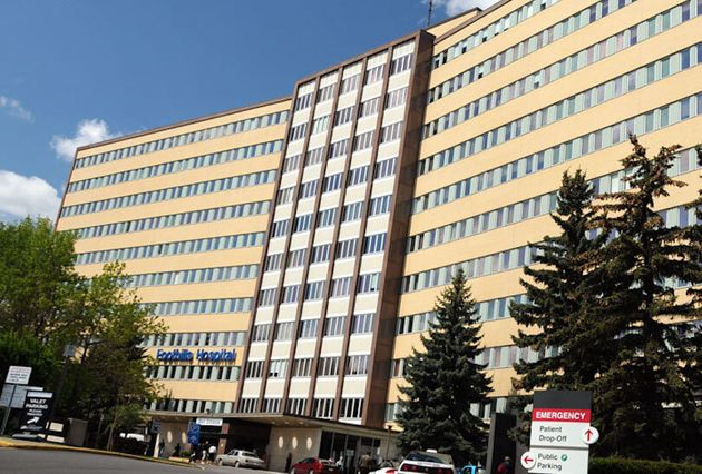 Calgary Foothills Medical Centre, one of the largest hospitals in Canada, is seen