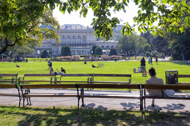 The Stadtpark (City Park) in Vienna, Austria. The city has been running programs to