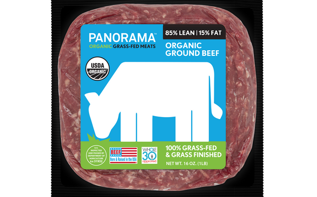 The front label of Panorama Meats beef says the product is grass fed. But the label you really need to...