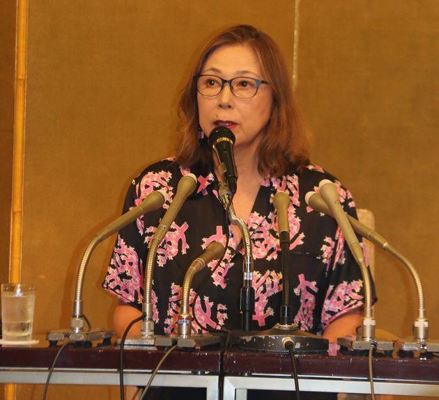 第144回から選考委員を務める桐野夏生さん。今回、代表して選考の経過などについて会見した