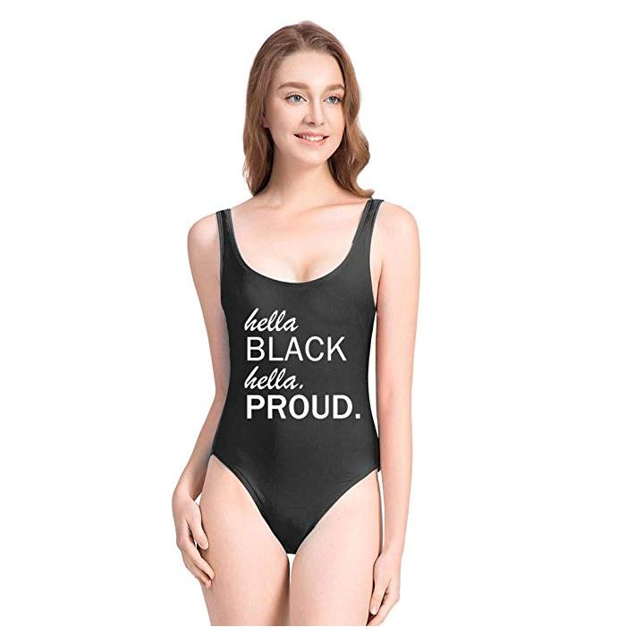 Amazon Is Selling A 'Hella Black Hella Proud' Swimsuit With A White Model
