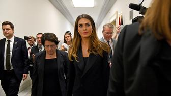 WASHINGTON, DC - JUNE 19: Former aide to President Trump, Hope Hicks takes a break from a hearing at the Rayburn House Building where so far she has refused to answer questions June 19, 2019 in Washington, DC.   (Photo by Katherine Frey/The Washington Post via Getty Images)