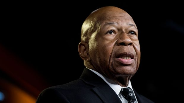 UNITED STATES - JUNE 11: House Oversight and Reform chairman Elijah Cummings, speaks during a press conference following a House vote to authorize lawsuits to enforce subpoenas on Tuesday, June 11, 2019. (Photo By Bill Clark/CQ Roll Call)