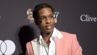 FILE - This Feb. 9, 2019 file photo shows A$AP Rocky at Pre-Grammy Gala And Salute To Industry Icons in Beverly Hills, Calif. The American rapper, whose name is Rakim Mayers, was ordered held by a Swedish court Friday, July 5, for two weeks in pre-trial detention while police investigate a fight on Sunday in central Stockholm. Following an outcry from celebrities and a Change.org petition with half a million signatures, Rep. Adriano Espaillat, D-N.Y. is pushing for the release of the rapper. (Photo by Richard Shotwell/Invision/AP, File)