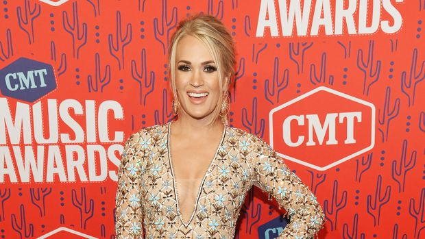 NASHVILLE, TENNESSEE - JUNE 05: Carrie Underwood attends the 2019 CMT Music Awards at Bridgestone Arena on June 05, 2019 in Nashville, Tennessee. (Photo by Kevin Mazur/Getty Images for CMT)