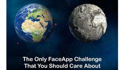 FaceApp sert aussi à alerter sur le réchauffement