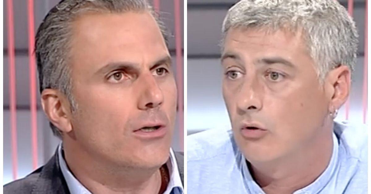 El rifirrafe entre Ortega Smith (Vox) y Matute (Bildu) en 'La Noche en 24 Horas'