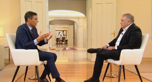 Pedro Sánchez y Ferreras en 'Al Rojo