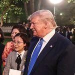 트럼프는 박세리를 만나 골프 상담을
