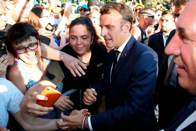 Emmanuel Macron à Pau le 19 juillet pour le Tour de