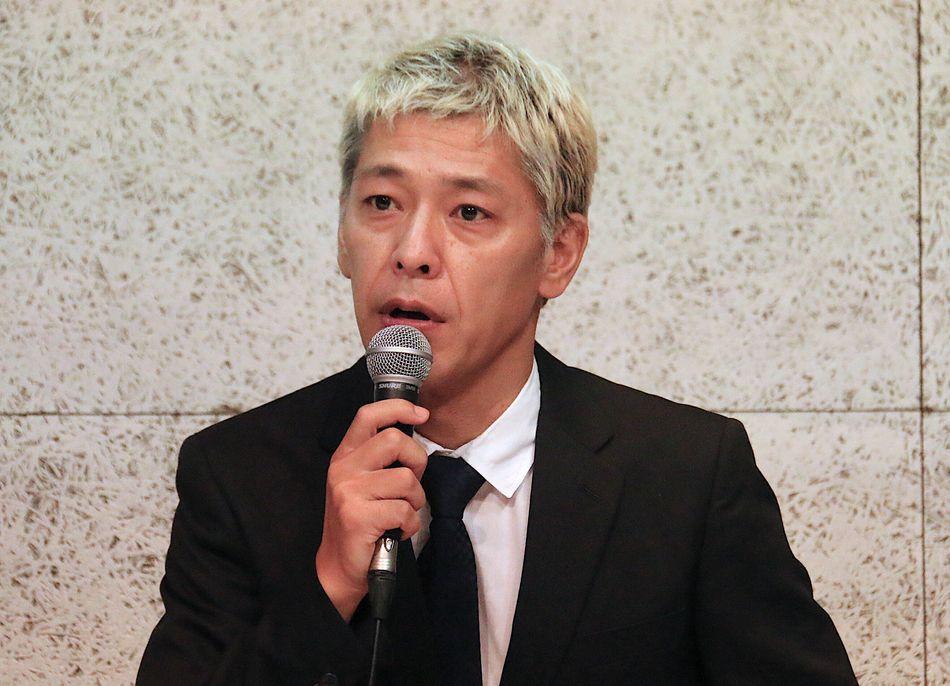 吉本からは契約解消となっている、という認識で会見に出ていると説明する田村亮さん。落ち着いて冷静に受け答えた。