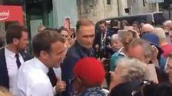 Dans les Hautes-Pyrénées, Macron interpellé par des badauds sur Steve, Rugy et les