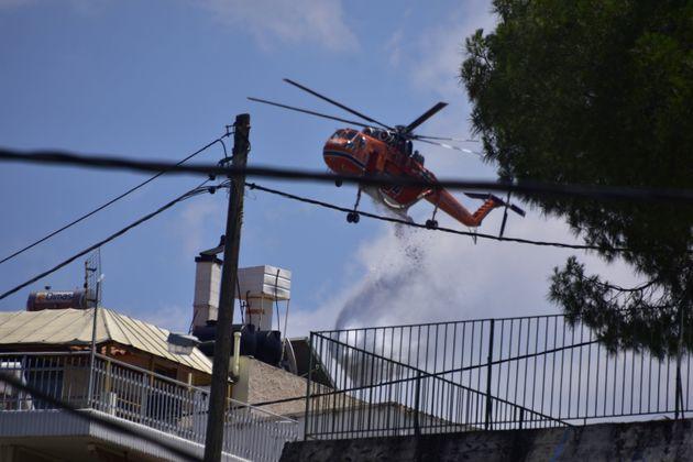 Πυρκαγιά στο Ναύπλιο και τον Κιθαιρώνα