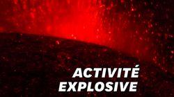 Les images de l'Etna entré dans sa plus grosse éruption depuis 10