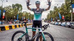 Marcus Burghardt, el ciclista que ya sí puede disfrutar del paisaje, último en la etapa del