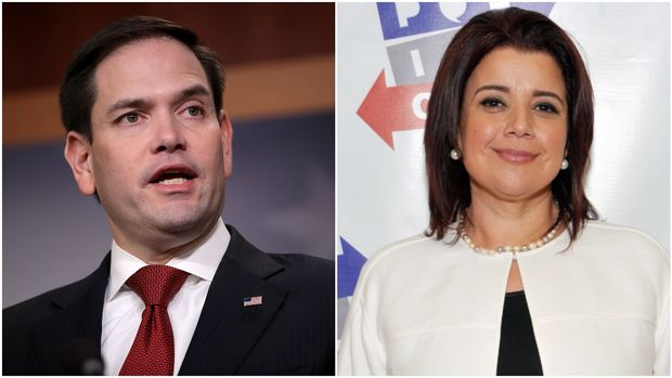 Sen. Marco Rubio, Ana Navarro (Getty Images)