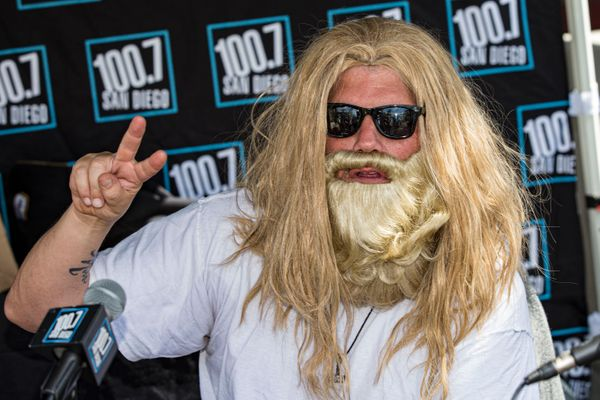 San Diego radio personality Chris Cantore cosplays as Thor Lebowski.