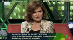 Carmen Calvo, sobre las conversaciones con Podemos para la investidura: