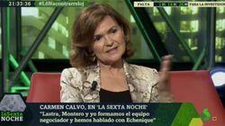 Críticas a Carmen Calvo por lo que ha dicho sobre el veto a Pablo Iglesias en 'LaSexta