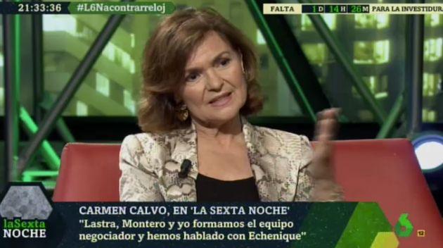 Carmen Calvo en 'LaSexta