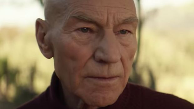 Patrick Stewart and Captain Jean Luc Picard