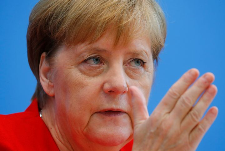 German Chancellor Angela Merkel evokes the lessons of Nazi Germany during the commemoration of the 75th anniversary of an ass