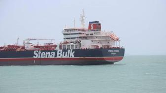 Stena Impero, a British-flagged vessel owned by Stena Bulk, is seen at Bander Abass port, in this undated handout photo. Tasnim News Agency/Handout via REUTERS ATTENTION EDITORS - THIS IMAGE WAS PROVIDED BY A THIRD PARTY.
