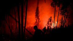 Ocho heridos en Portugal por un gran incendio que ha movilizado a un millar de