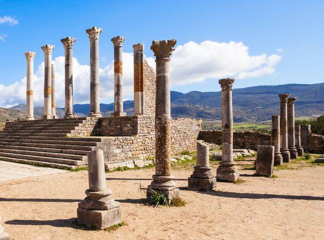 Site archéologique de Volubilis, près de