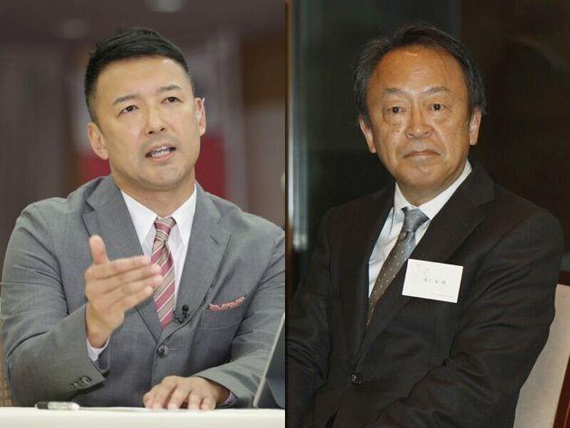 山本太郎氏(左)と池上彰氏(右)