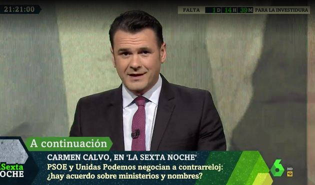 Iñaki López, presentador de LaSexta