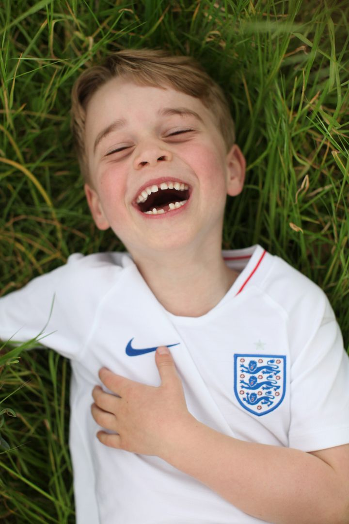 Prince George Smiles As He Wears England Football Shirt In Photos To Mark Sixth Birthday | HuffPost Life