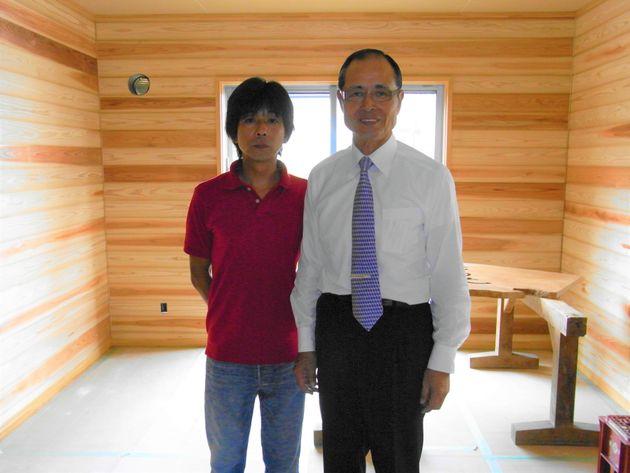 (左から)タケイファーム・武井敏信さんと王貞治さん