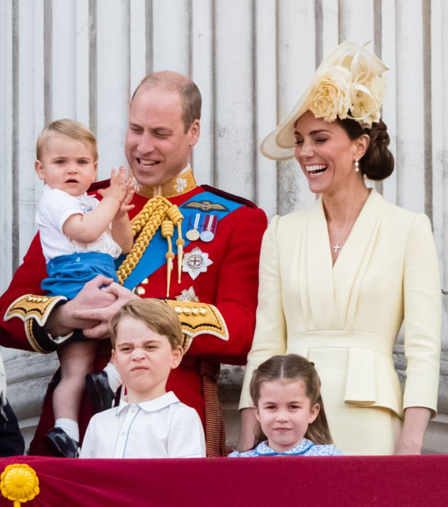Prince George watches Trooping the Colour in June with his brother, Prince Louis, sister Princess Charlotte...