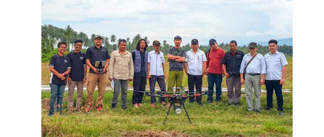 テラドローンインドネシアと国際協力機構(JICA)の参加メンバー。