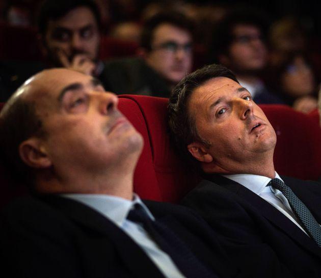 Il Pd sbanda pure all'opposizione, Zingaretti e Renzi pari s
