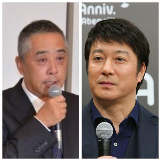 吉本興業の岡本昭彦社長とタレントの加藤浩次さん
