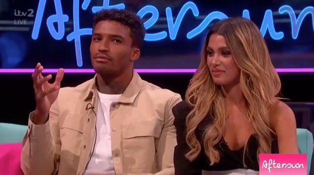 Love Islands Michael And Joanna Share Mightily Awkward Aftersun Reunion