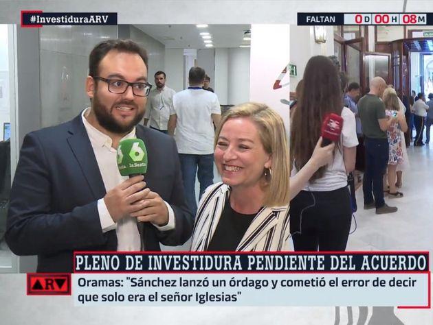 La cara de un reportero de 'Al Rojo Vivo' tras lo que ha hecho en pleno directo esta