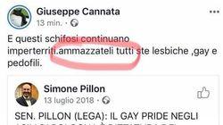 """POST OMOFOBO - Consigliere di Fratelli d'Italia a Vercelli: """"Ammazzateli tutti ste lesbiche, gay e"""