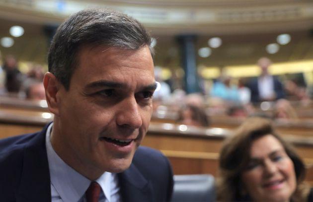 El discurso de Sánchez: una breve llamada al acuerdo con Podemos y sin citar el Gobierno de