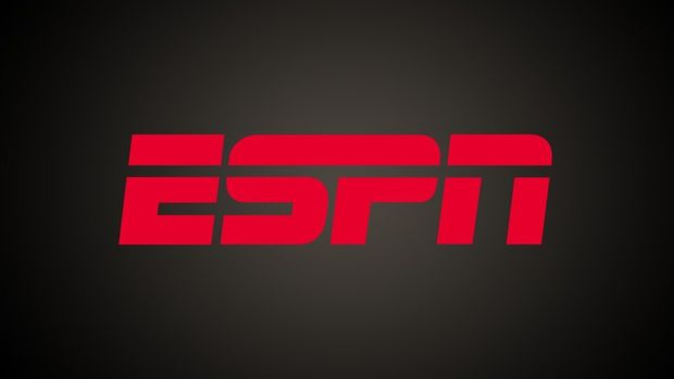 ESPN logo on texture, partial graphic