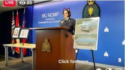La police canadienne diffuse un point presse sur un double homicide avec un filtre