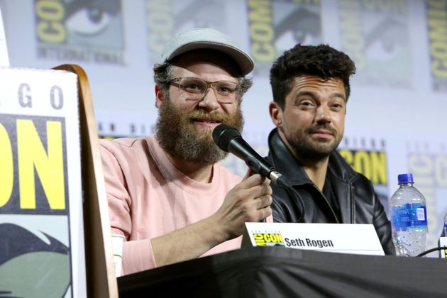 Seth Rogen took part in a panel discussion with Dominic Cooper, who stars in