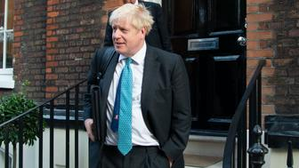 Boris Johnson seen leaving a meeting in London, UK on July 18, 2019. (Photo by Claire Doherty/Sipa USA)
