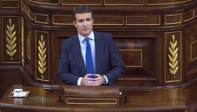 Casado reprocha a Sánchez que no haya citado a Cataluña en su